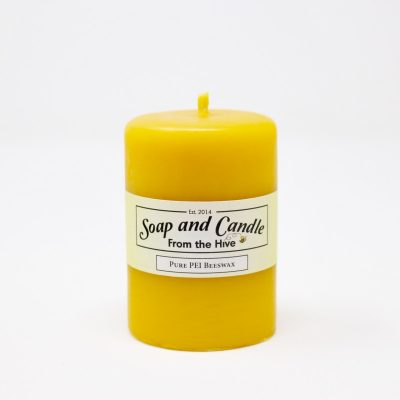 Smooth Pillar Beeswax Candle