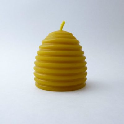 2 1/2 x 2 1/2 Beehive Beeswax Candle