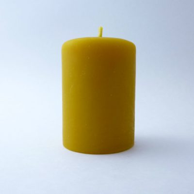 "2"" x 3"" Smooth Pillar Beeswax Candle"
