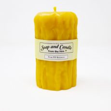 Rustic Pillar Beeswax Candle